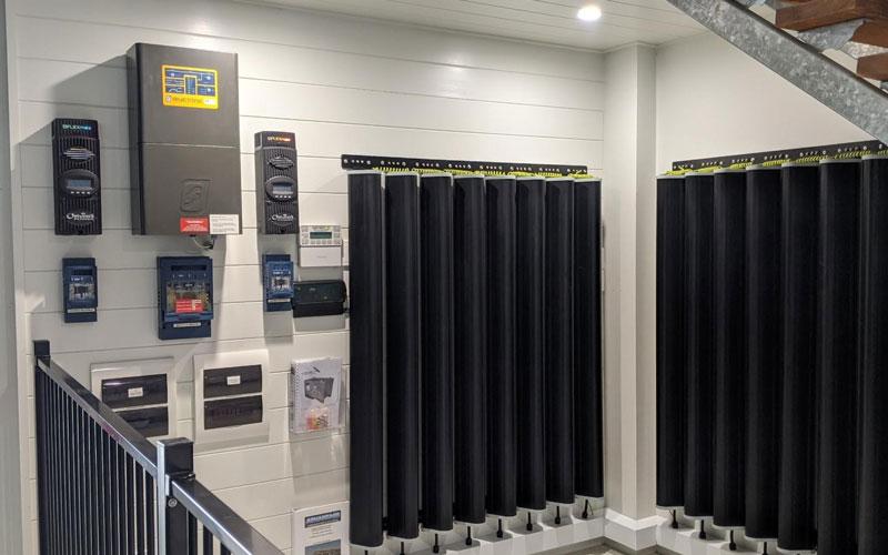 installation de batteries solaires